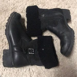 Ugg fashion leather boots